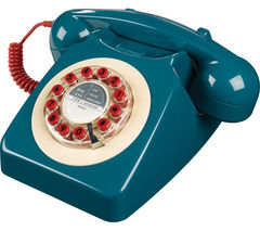 WILD & WOLF 746 Corded Phone - Petrol Blue