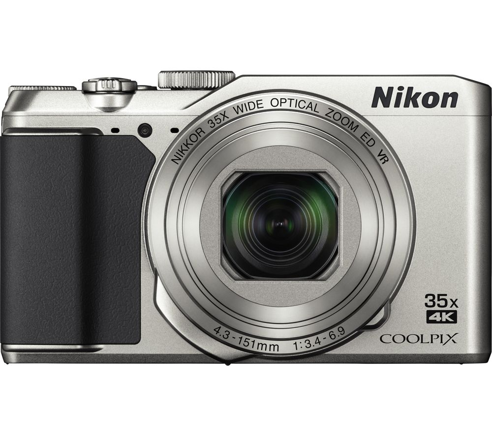 NIKON COOLPIX A900 Superzoom Compact Camera - Silver + Extreme Plus Class 10 SD Memory Card Twin Pack - 16 GB