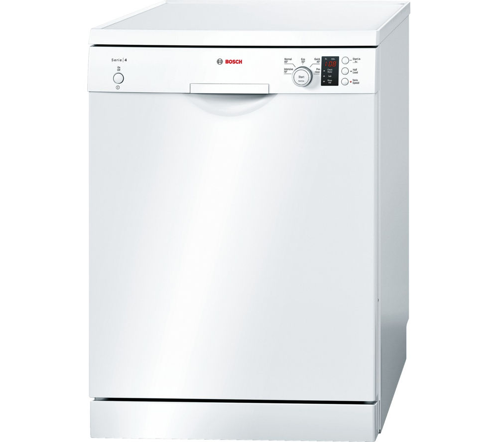 BOSCH  SMS50C22GB Fullsize Dishwasher  White White