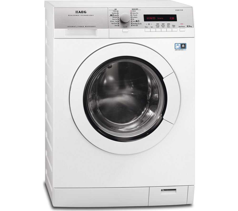 AEG  L76685NWD Washer Dryer  White White