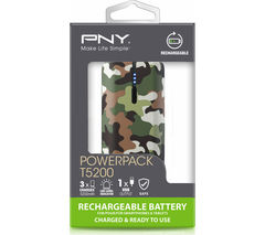 PNY Curve 5200 Portable Power Bank - Camo