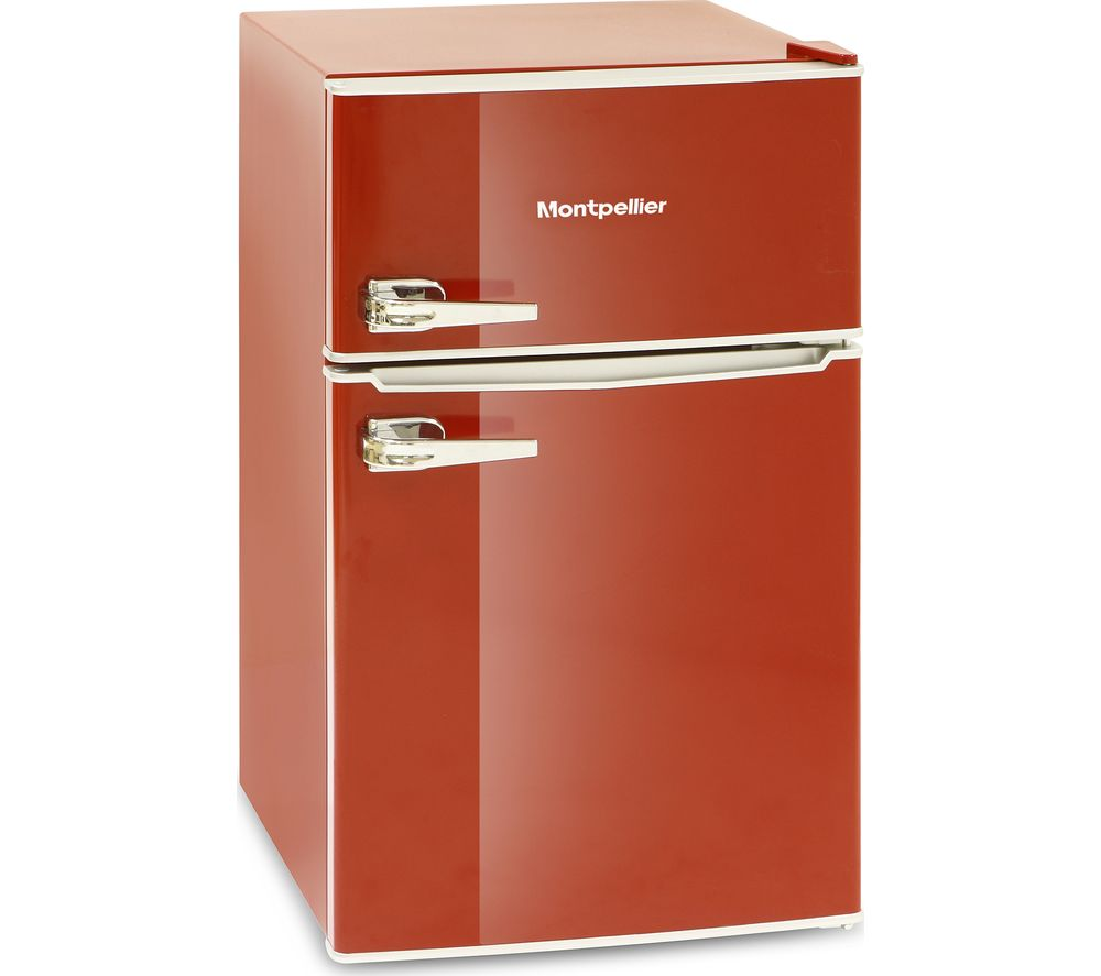 MONTPELLIER MAB2030R Undercounter Fridge Freezer  Red Red