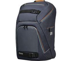 """PORT DESIGNS GO LED 15.6"""" Laptop Backpack - Grey & Brown"""