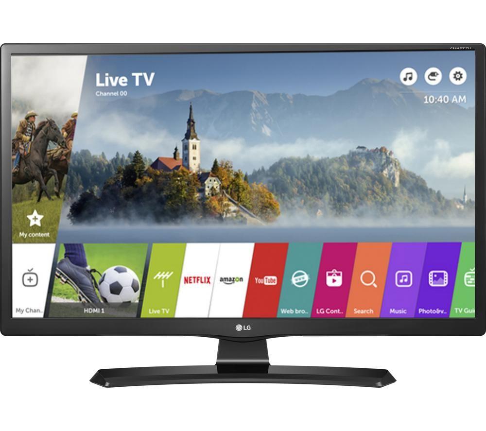 """LG 24MT49S 24"""" Smart LED TV + LFMSKS16 Full Motion TV Bracket Starter Kit"""