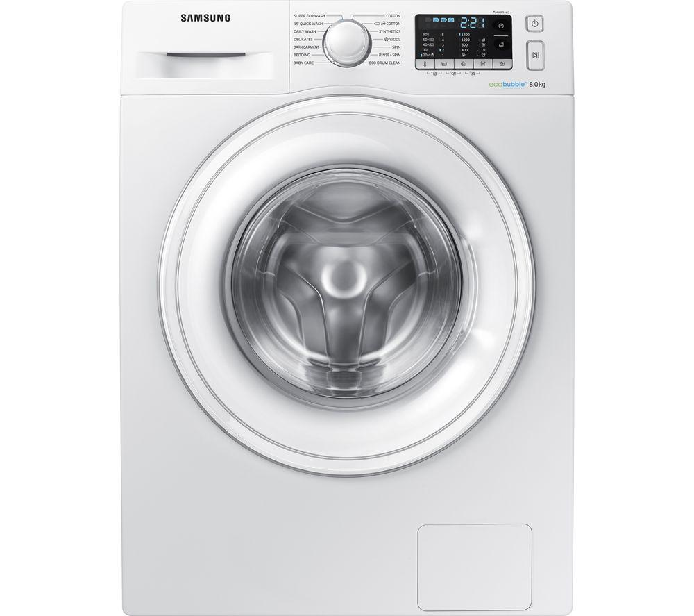 SAMSUNG ecobubble WW80J5555DW 8 kg 1400 Spin Washing Machine - White