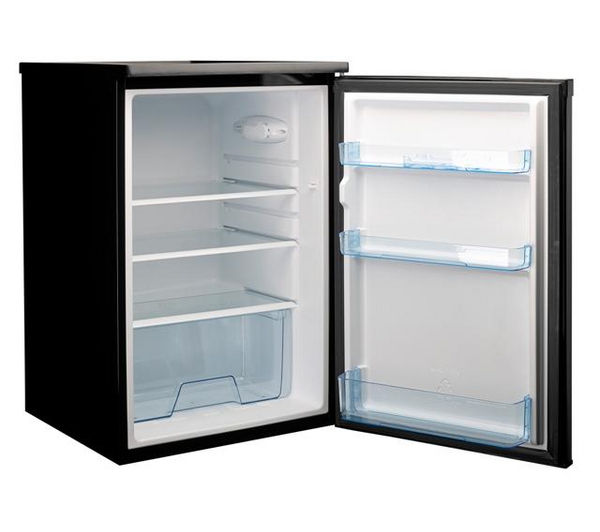 Undercounter black fridge