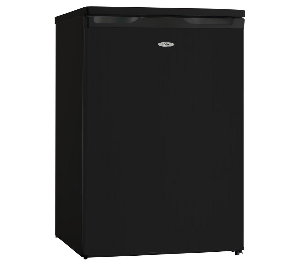 LOGIK  LUL55B13 Undercounter Fridge - Black +  L712WM13 Washing Machine - White