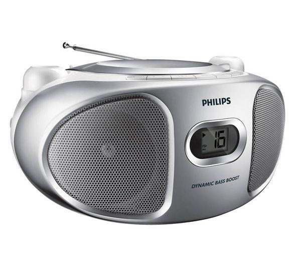 Philips AZ105S/05 Portable Stereo   Silver, Silver