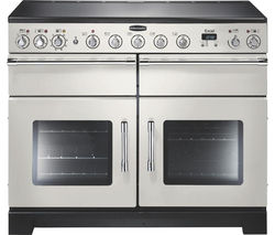 RANGEMASTER Excel 110 Electric Induction Range Cooker - Ivory & Chrome