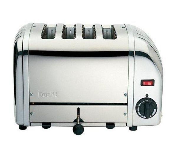 DUALIT  40352 Vario 4Slice Toaster  Stainless Steel Stainless Steel