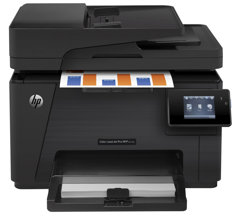 HP LaserJet Pro M177fw Colour All-in-One Wireless Laser Printer with Fax + 126A Black Toner Cartridge