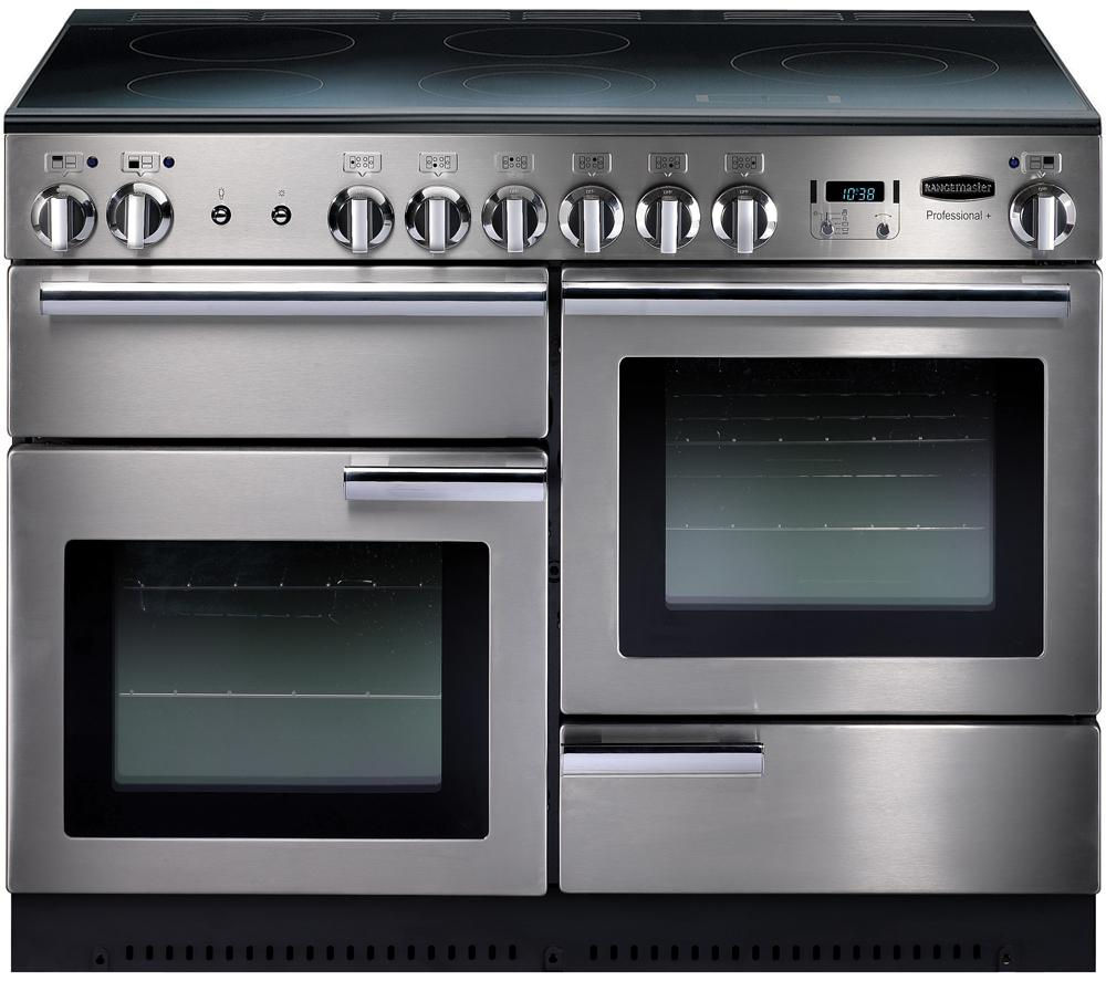 RANGEMASTER Professional+ 110 Electric Range Cooker - Stainless Steel & Chrome
