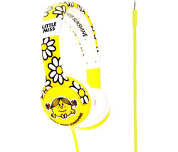 MR MEN Little Miss Sunshine Kids Headphones - Yellow