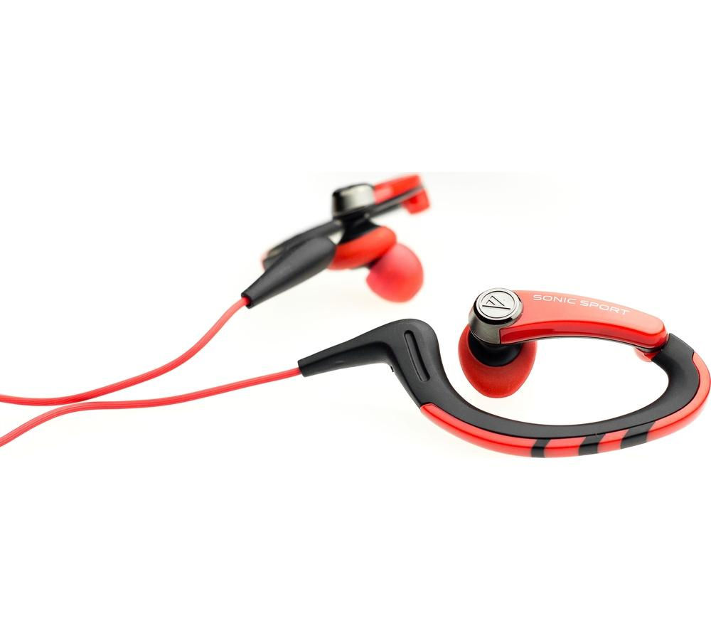 AUDIO TECHNICA SonicSport ATH-SPORT1RD Headphones - Red & Black