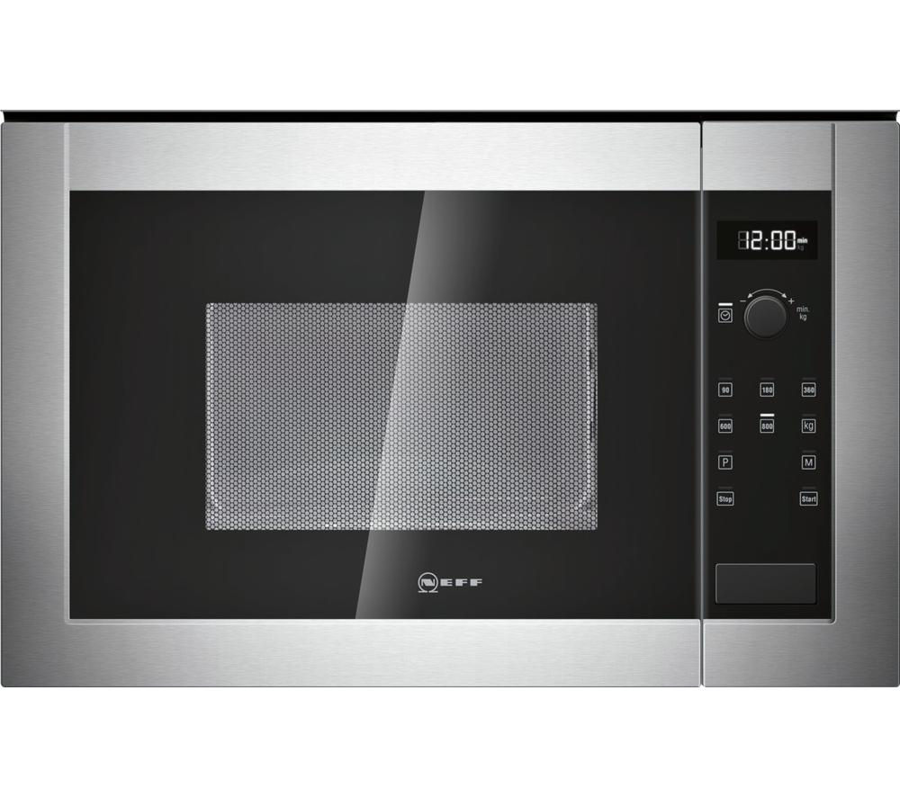 NEFF H11WE60N0G Built-in Solo Microwave - Stainless Steel