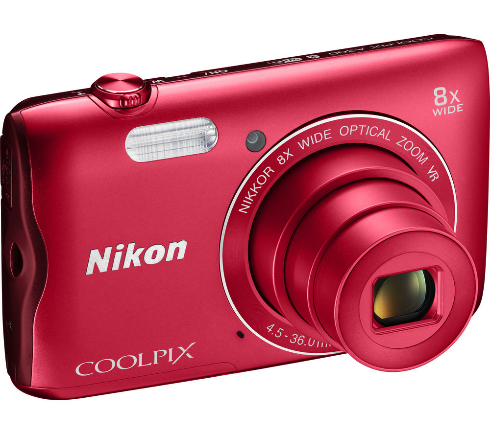 NIKON  COOLPIX A300 Compact Camera  Red Red