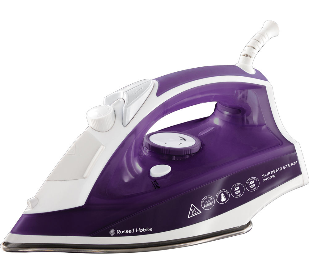 buy russell hobbs supremesteam 23060 steam iron purple free delivery currys. Black Bedroom Furniture Sets. Home Design Ideas