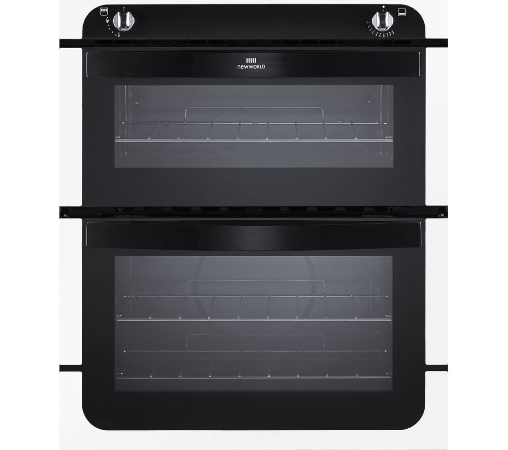 NEW WLD  NW701G Gas Builtunder Oven  Black & White Black