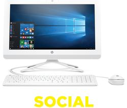 "HP 20-c001na 19.5"" All-in-One PC - White"