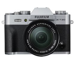 FUJIFILM X-T20 Mirrorless Camera with 16-50 mm f/3.5-5.6 Lens - Silver