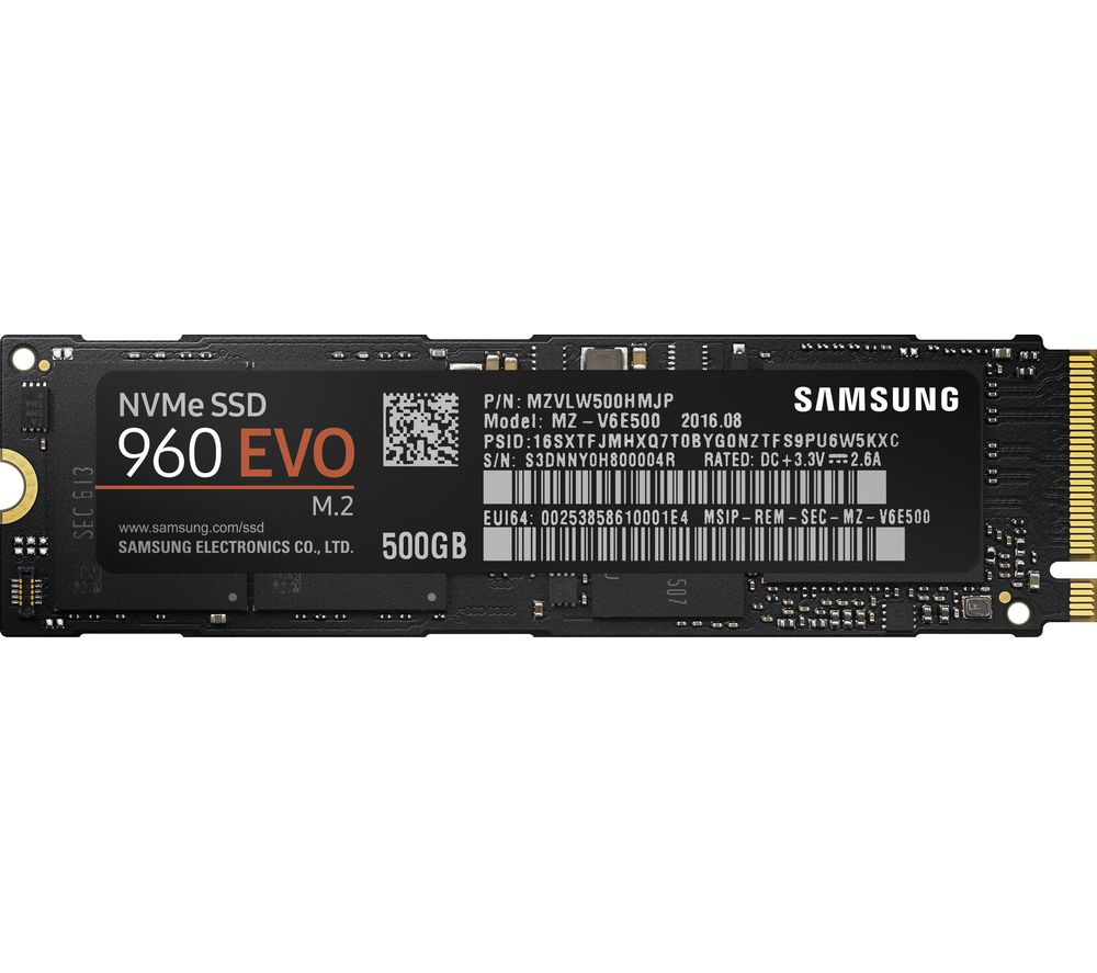 SAMSUNG 960 Evo Internal SSD - 500 GB