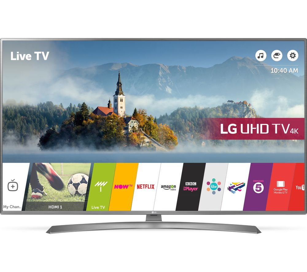 "LG 65UJ670V 65"" Smart 4K Ultra HD HDR LED TV + S1HDM315 HDMI Cable with Ethernet - 1 m"