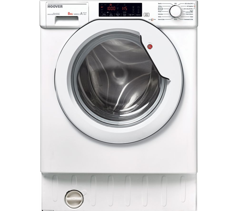HOOVER HBWM 84TAHC80 Integrated 8 kg 1400 Spin Washing Machine  White White
