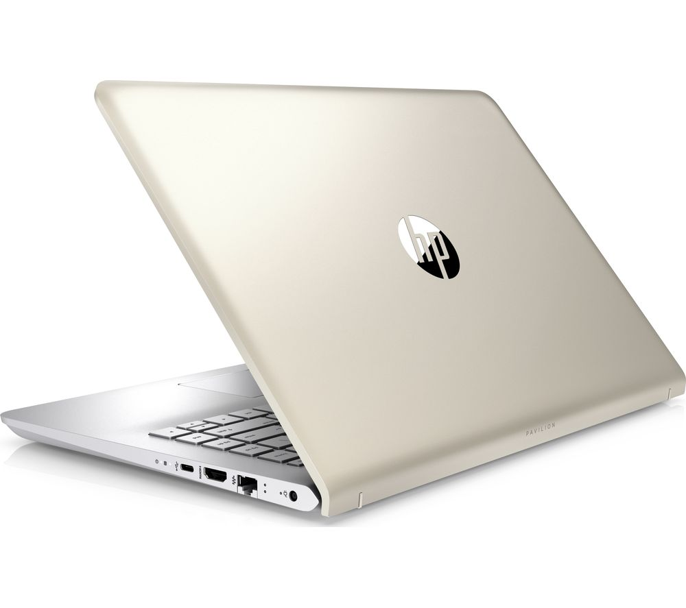 "HP Pavilion 14-bk064sa 14"" Laptop - Silk Gold + Office 365 Personal + LiveSafe Unlimited 2017 - 1 year"