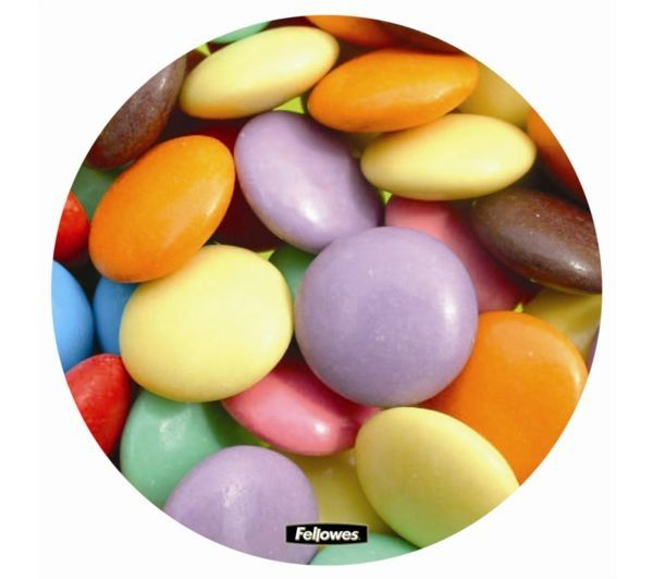 FELLOWES Round Brite Mouse Mat - Smarties