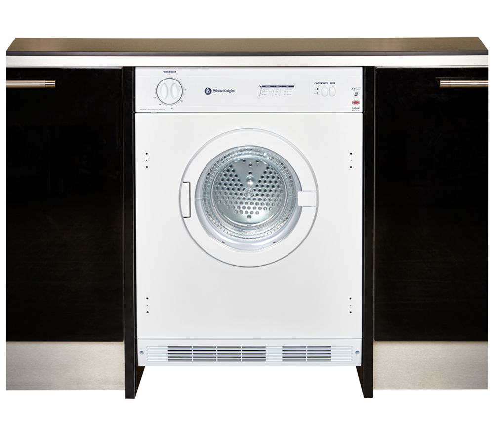 WHITE KNIGHT  C43AW Integrated Vented Tumble Dryer  White White