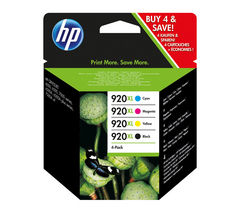 HP 920XL Cyan, Magenta, Yellow & Black Ink Cartridges - Multipack