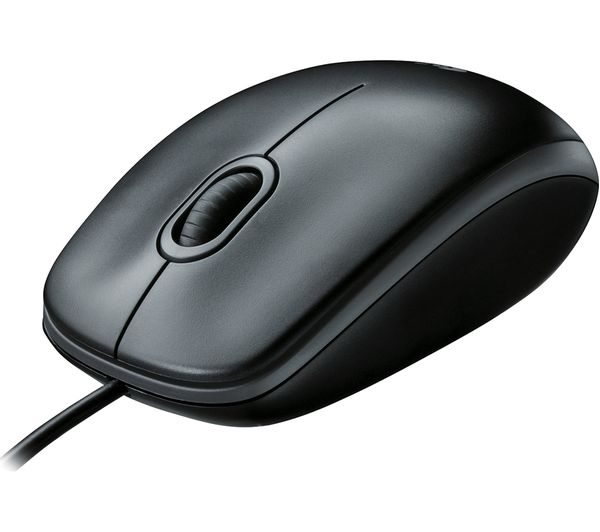 LOGITECH B100 Optical Mouse, Connection: Wired USB, Scroll wheel