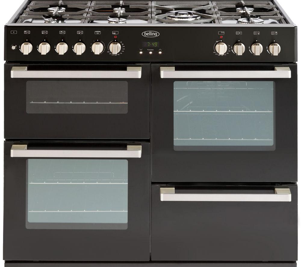 BELLING DB4 100DF Dual Fuel Range Cooker - Black
