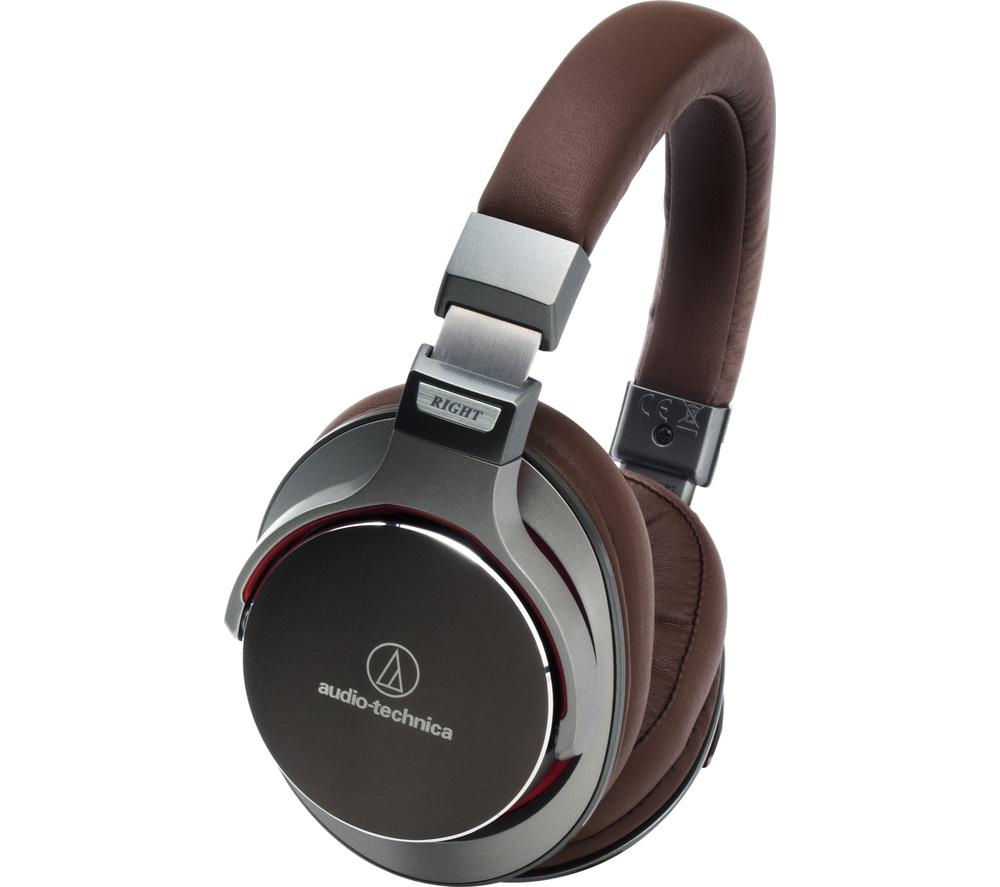 AUDIO TECHNICA ATH-MSR7GM Headphones - Gunmetal & Brown