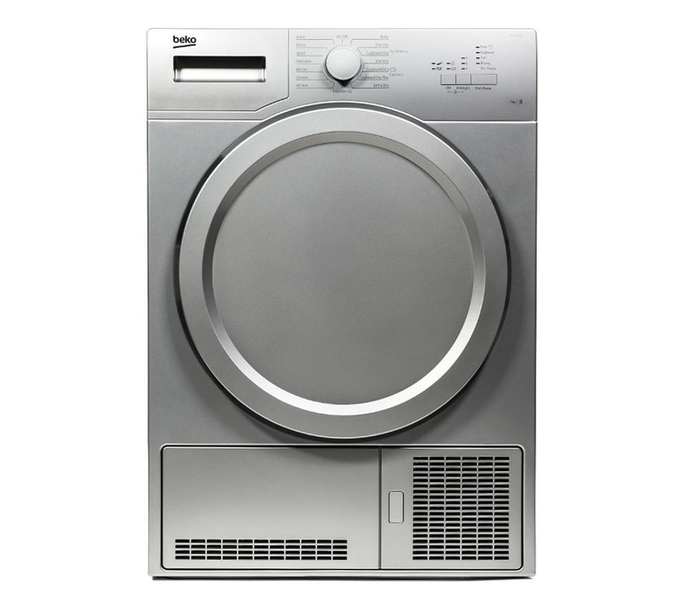 BEKO  DCX71100S Condenser Tumble Dryer - Silver +  DFS05X10W Slimline Dishwasher - White