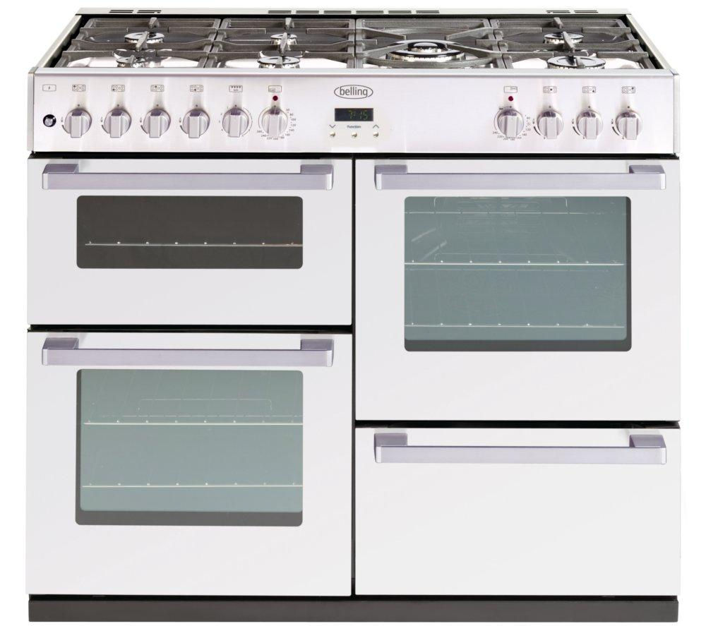 BELLING DB4 100DF Dual Fuel Range Cooker - White