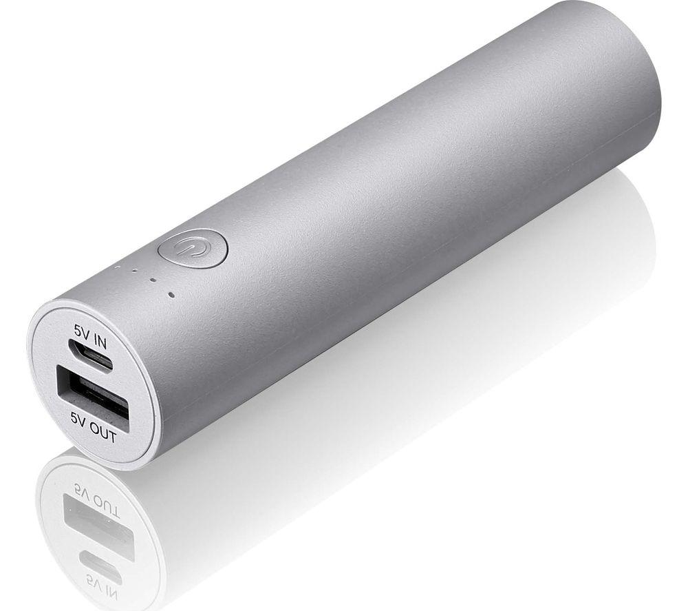 GOJI G6PB3SV16 Portable Power Bank - Silver