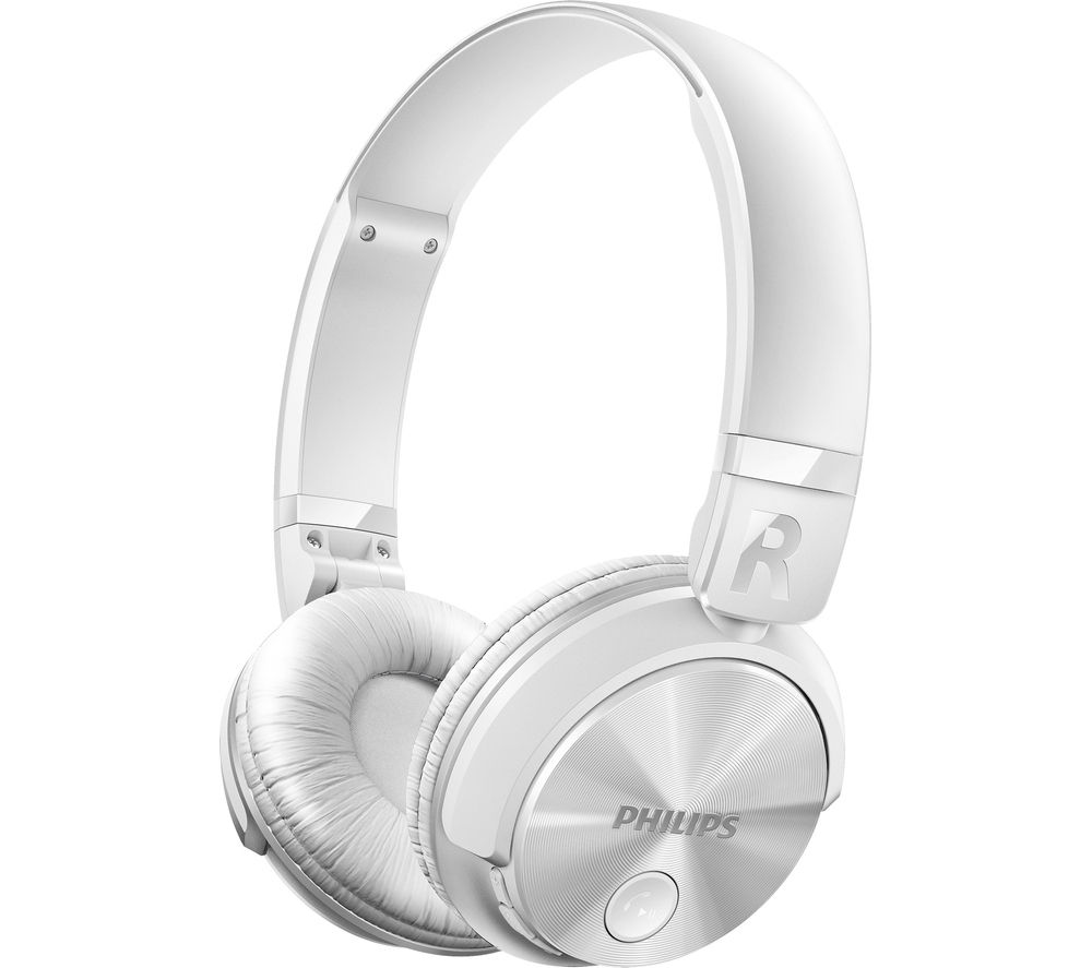 Click to view more of PHILIPS  SHB3060WT/00 Wireless Bluetooth Headphones - White, White