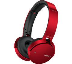 SONY MDR-XB650BTR EXTRA BASS Wireless Bluetooth Headphones - Red