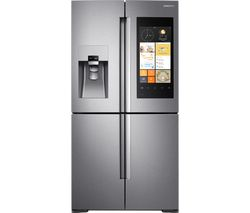 SAMSUNG Family Hub RF56K9540SR American-Style Smart Fridge Freezer - Stainless Steel