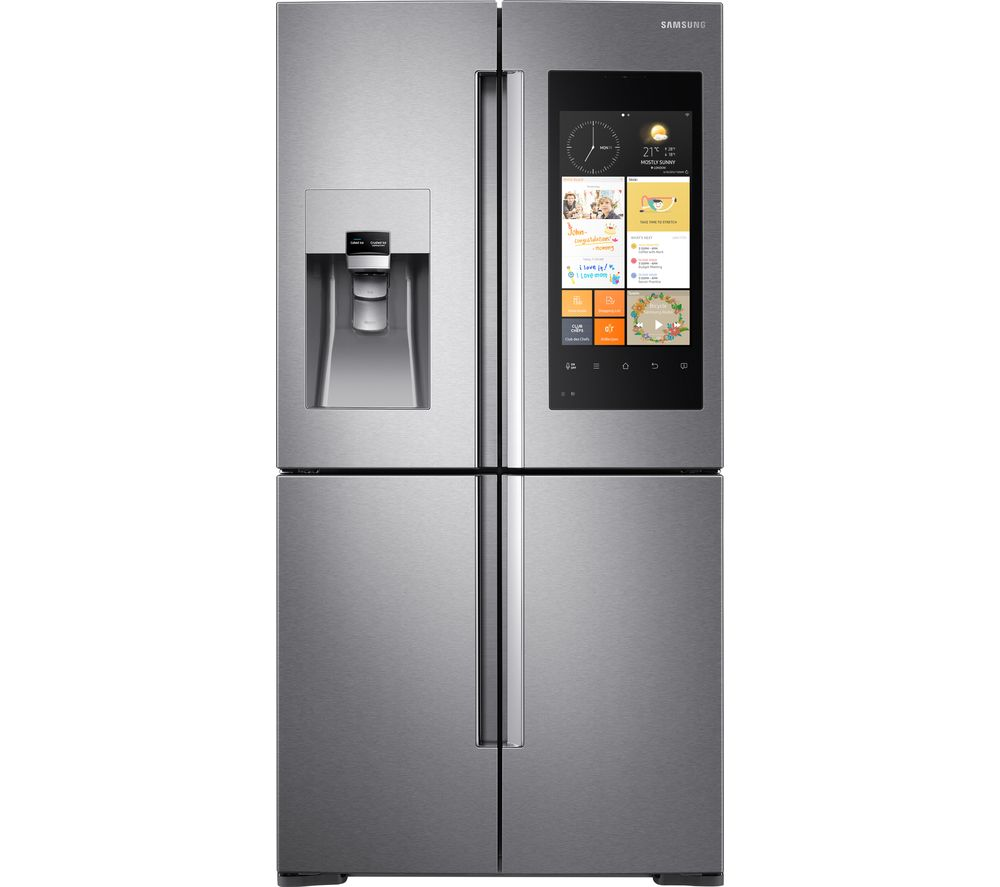 SAMSUNG  Family Hub RF56K9540SR American-Style Smart Fridge Freezer - Stainless Steel, Stainless Steel