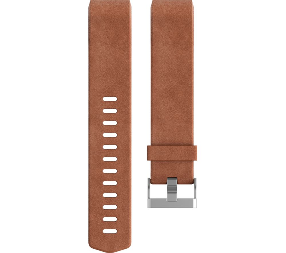 buy fitbit charge 2 classic accessory band brown leather large free delivery currys. Black Bedroom Furniture Sets. Home Design Ideas