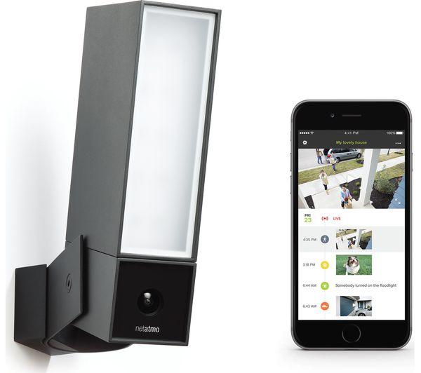 netatmo presence outdoor security camera with light deals. Black Bedroom Furniture Sets. Home Design Ideas