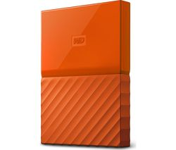 WD My Passport Portable Hard Drive - 1 TB, Orange