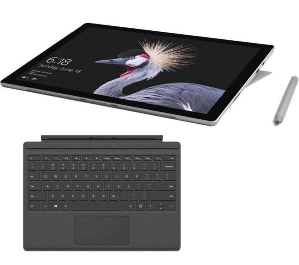 MICROSOFT Surface Pro, Typecover & Surface Pen Bundle - 256 GB