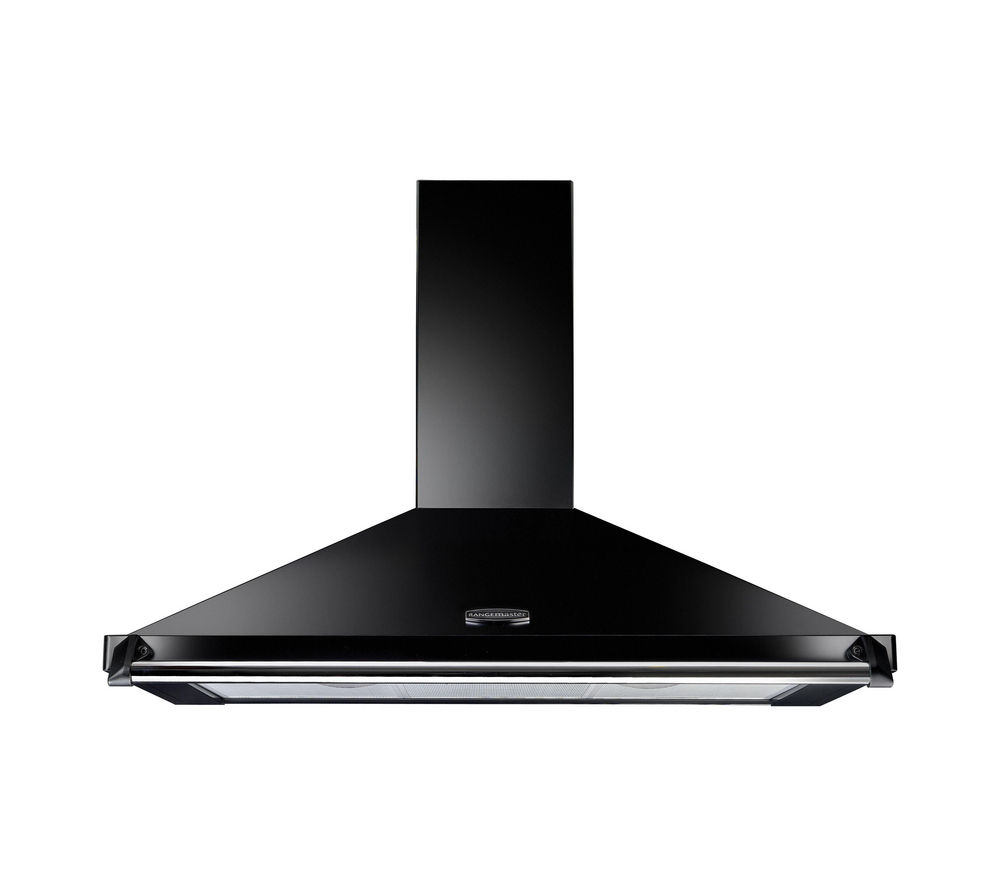 RANGEMASTER CLAHDC100BC Classic Chimney Cooker Hood - Black & Chrome