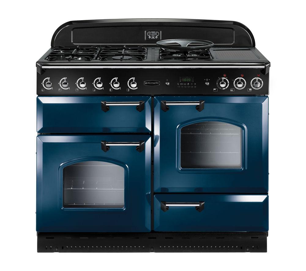 Image of Rangemaster Classic 110 LPG Range Cooker - Blue & Chrome, Blue