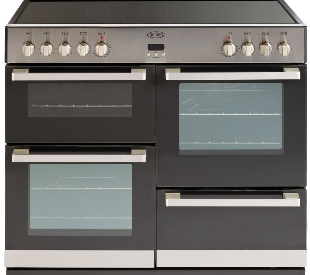 BELLING DB4 100E Electric Ceramic Range Cooker - Stainless Steel