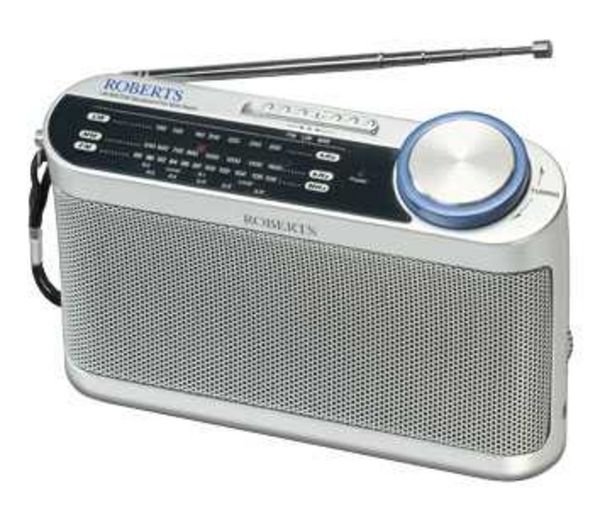 ROBERTS R9993 Portable Analogue Radio   Silver. Radios   Cheap Radios Deals   Currys