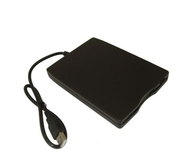 DYNAMODE  External USB Floppy Disc Drive - Black, Black